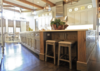 "Custom pecky cypress island<br/><span class=""gallery-courtesy"">Courtesy Northshore Millwork</span>"