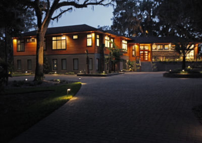 "Cypress siding at night<br/><span class=""gallery-courtesy"">Courtesy NextGen Home TV</span>"