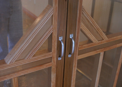 "Cypress screen door.<br/> <span class=""gallery-courtesy"">Courtesy Acadian Cypress and Hardwoods</span>"