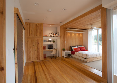 "Cypress flooring, paneling and trim.<br/> <span class=""gallery-courtesy"">Courtesy Jim Tetro/U.S. Department of Energy Solar Decathlon</span>"