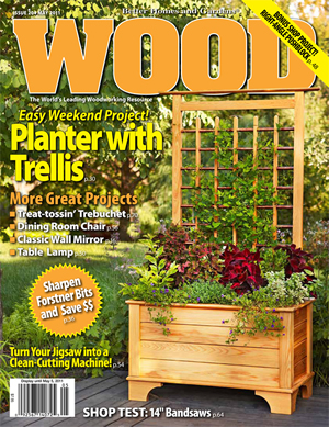 Wood - Planter with Trellis