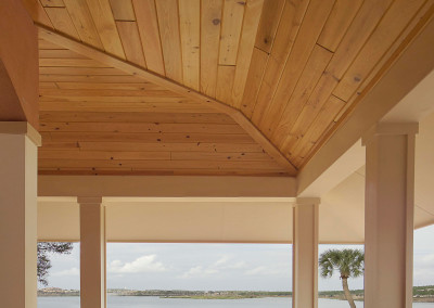 Cypress porch ceiling. Courtesy James Wilson