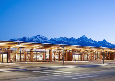 Cypress ceiling at Jackson Hole Airport. Courtesy Matthew Millman