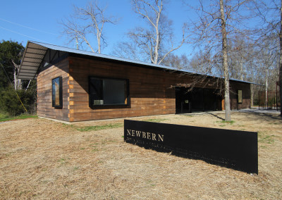 Cypress timbers at Newbern Town Hall. Courtesy Rural Studio