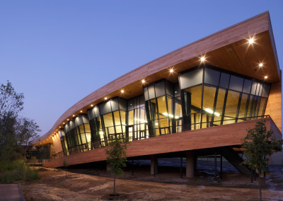 Cypress siding on Trinity River Audobon Center. Courtesy Michael Lyon Photography