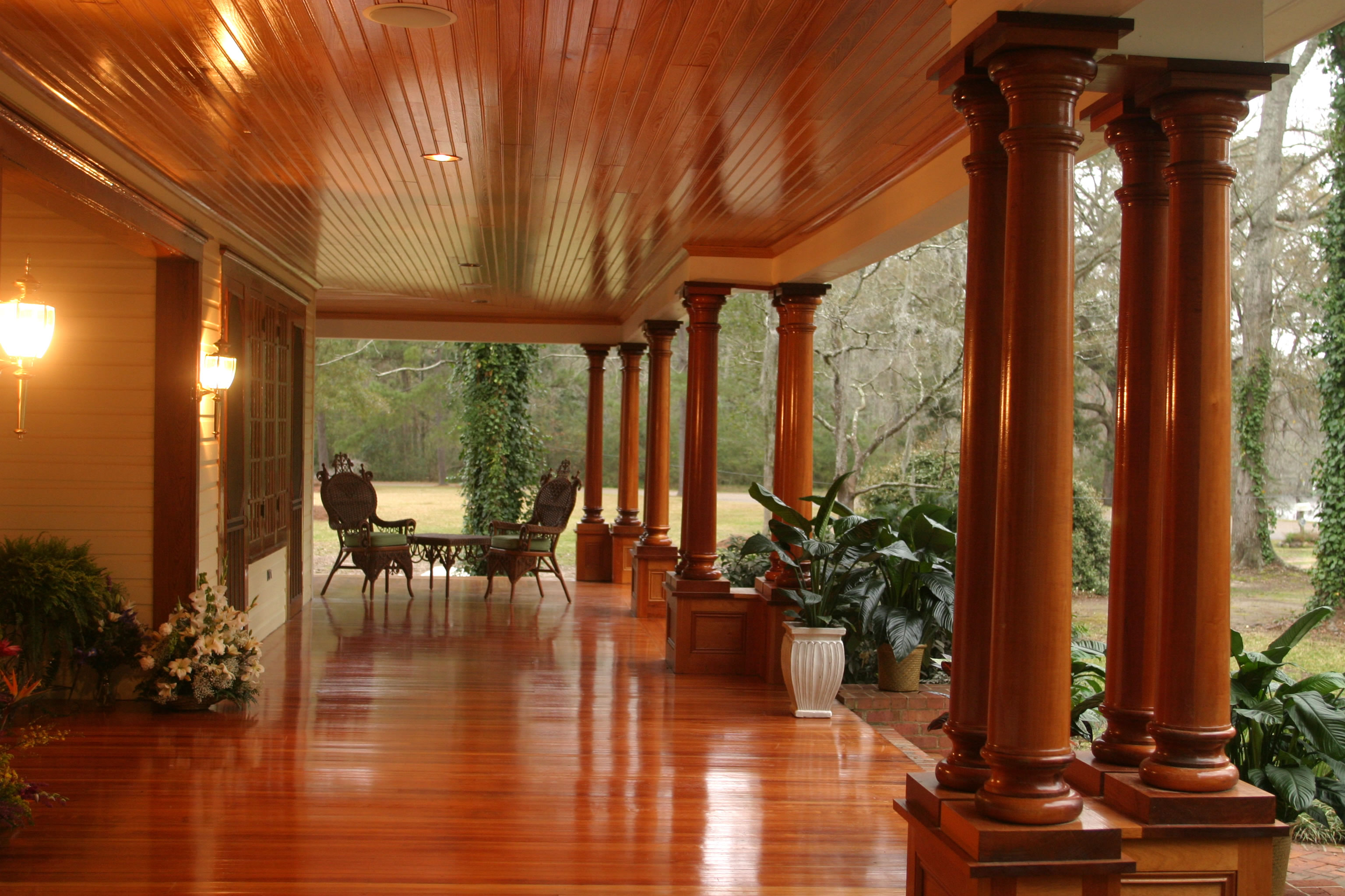 View photo gallery cypress information for Cypress porch columns