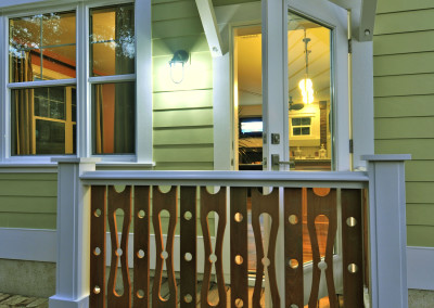 Porch railing. Courtesy Josh Wynn Construction