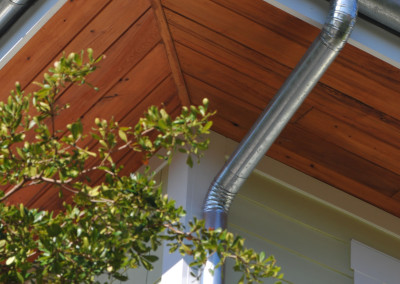 Cypress soffit. Courtesy Josh Wynn Construction
