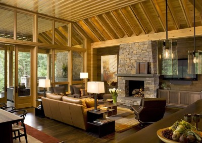 Cypress ceiling and window framing. Courtesy David Dietrich