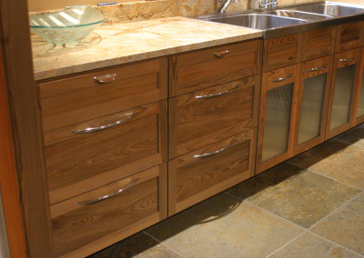Cypress kitchen cabinetry. Courtesy Acadian Cypress and Hardwoods