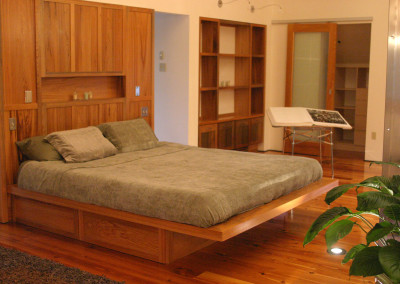 Cypress bedroom. Courtesy Acadian Cypress and Hardwoods