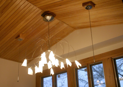 Cypress ceiling. Courtesy Acadian Cypress and Hardwoods